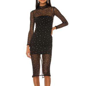 NBD Brittany Embellished Midi Dress Mesh XL